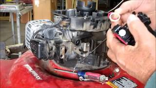 Murray LAWNMOWER Won't stay Running Briggs Stratton E-Series 4.50 HP: CARBURETOR Removal and Replace