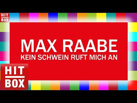 MAX RAABE - Kein Schwein ruft mich an 'HITBOX Lyrics Karaoke'