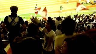 早稲田大学ア式蹴球部のサポーターグループ「ULTRAS WASEDA」の第61回早慶サッカー定期戦における応援動画です。