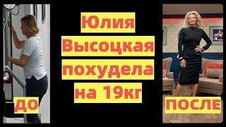 Юлия Высоцкая диета и фигура о которой желают женщины Это потрясающе