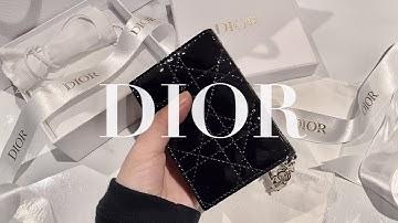 DIOR) 디올 플랩 카드홀더 언박싱 리뷰🖤  20~30대 여자 카드지갑 추천, 여자친구 생일선물 추천, 뉴질랜드브이로그, Dior flap card holder
