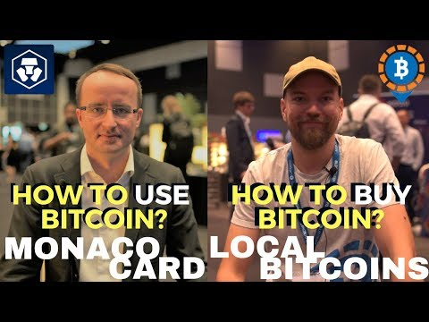 How to Use and Buy Bitcoin? Monaco Card and Local Bitcoins - Founders Speak at BEF 2018