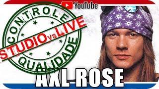 AXL ROSE Guns N' Roses Studio vs Live - CONTROLE DE QUALIDADE- Marcio Guerra Reagindo Hard Rock