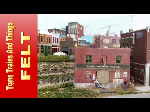 Model Railroad Scenery Tip  Flexible Scenery with Felt