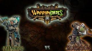 Warmachine & Hordes - Trollbloods (E-Madrak) vs. Minions (Dr. Arkadius) - 50pt Battle Report