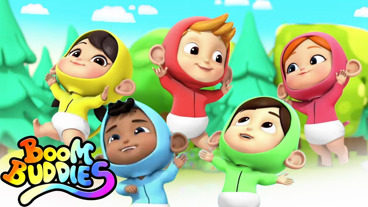 Five Little Babies | Boo Boo Song | Five Little Monkeys | Nursery Rhymes For Kids with Boom Buddies