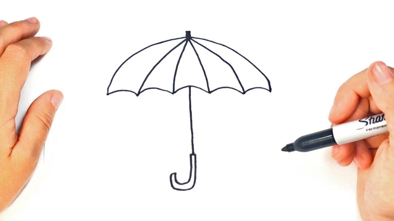 Cómo dibujar un Paraguas paso a paso | Dibujo fácil de Paraguas ...
