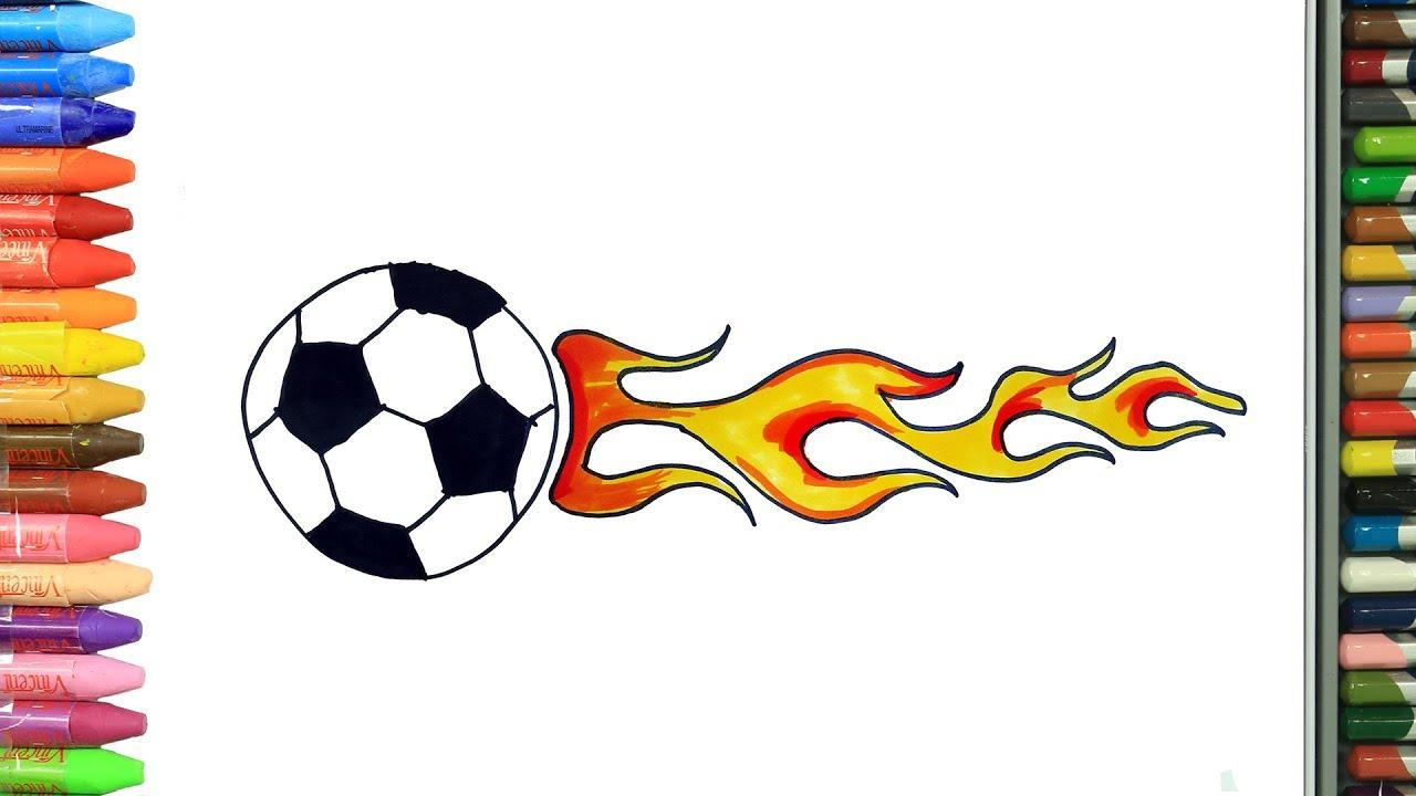 Cómo Dibujar Y Colorear Balón De Fútbol Dibujos Para Niños