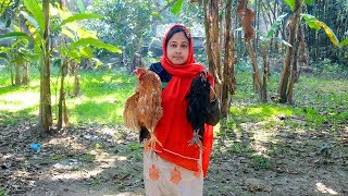 Bengali Chicken Curry Cooking Recipe in Village by Girl & Mom | Village Food Factory & Lifes