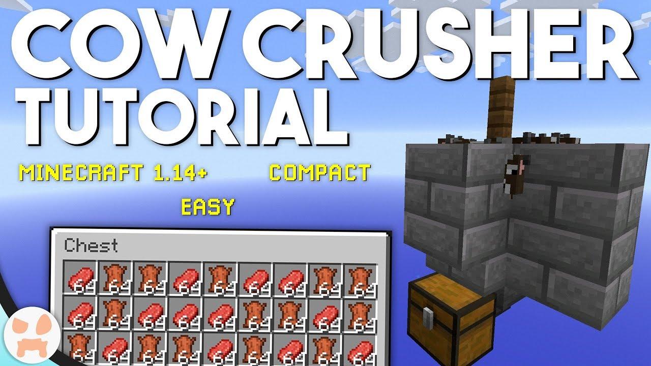 EASY COW FARM TUTORIAL! | Minecraft 1 14+, Compact