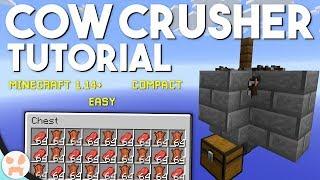 EASY COW FARM TUTORIAL! | Minecraft 1.14+, Compact