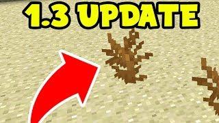 Minecraft PE 1.3 UPDATE! - 2 NEW BLOCK CHANGES in Minecraft Pocket Edition