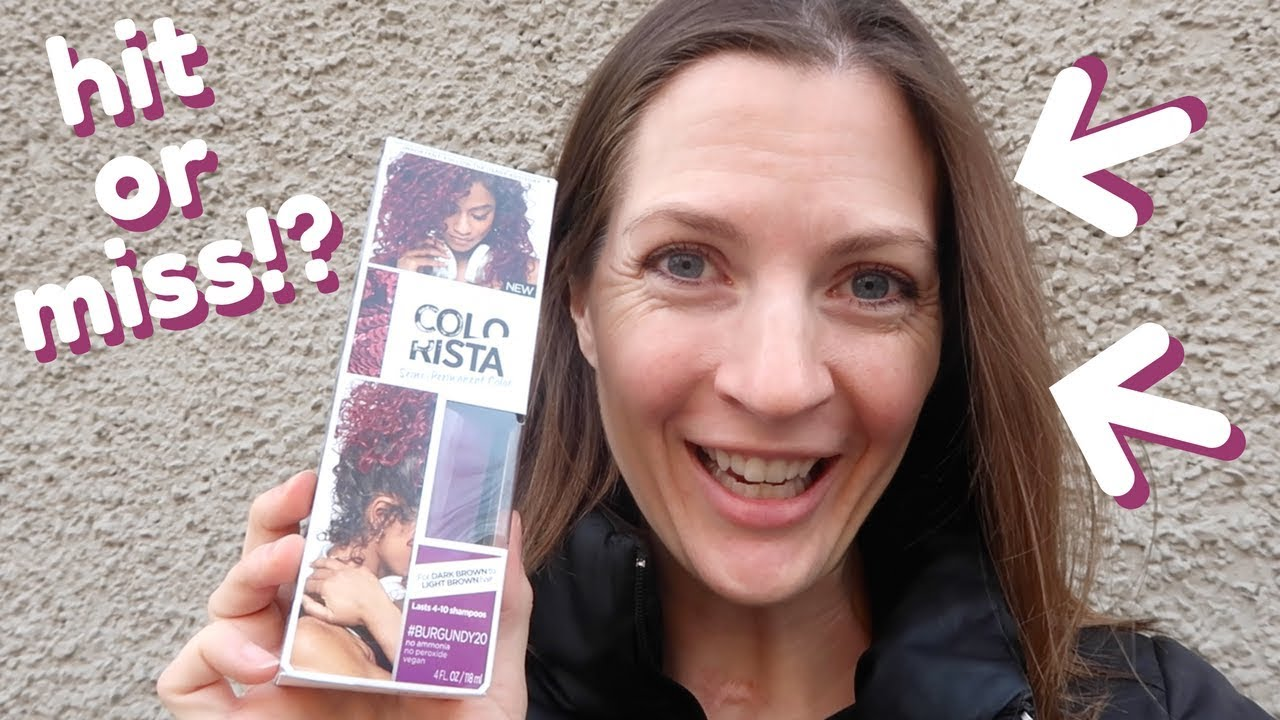Dyeing My Virgin Brown Hair Burgundy With Loreal Colorista