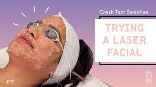 We Tried to Get Glowing Skin With a Laser Facial | Crash Test Beauties