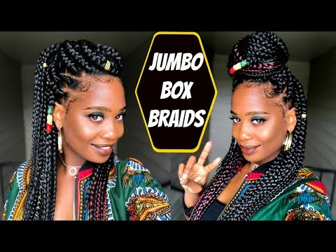 Jumbo Box Braids Tutorial | MISSKENK