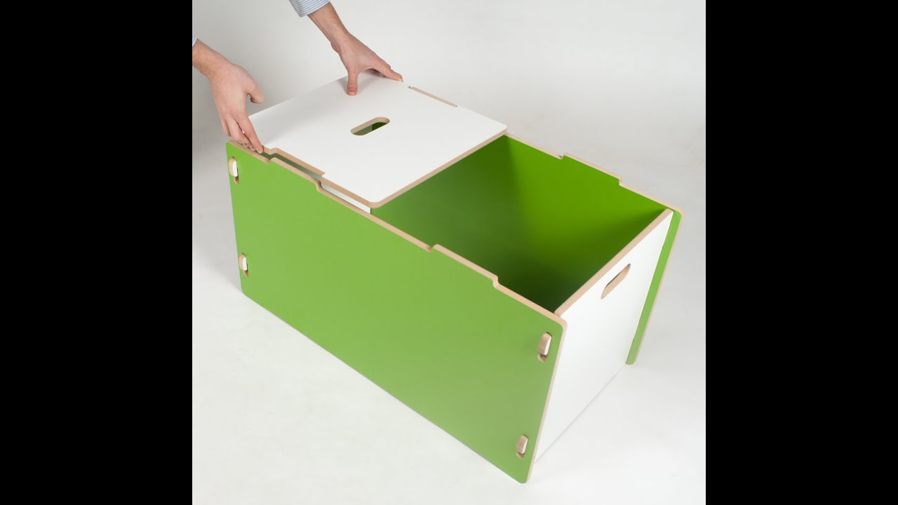 sprout modern toybox assembly  youtube - sprout modern toybox assembly