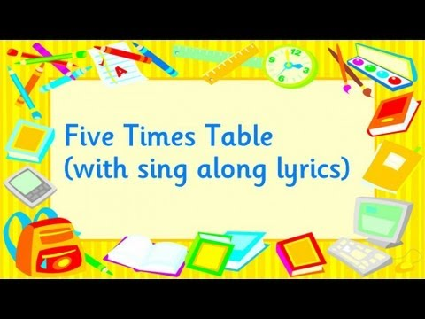 Number Names Worksheets five times table : Five Times Table - YouTube