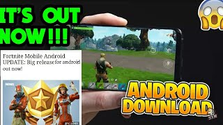 Fortnite is OFFICIALLY Out for Android!!! (No verification or Codes) *How to download*