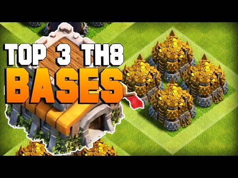 Clash of Clans | TOP 3 TH8 Farming Base 2016 | CoC BEST Town Hall 8 Defense [TH8 2016]