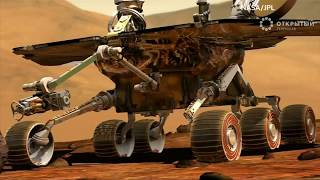 видео На Марсе бушует пылевая буря. Жизнь одного из марсоходов NASA под угрозой
