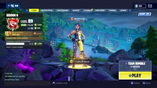 Fortnite Battle royal PS4 Live stream (fr) JOURNÉE DE DONAWAY (EN ANGLAIS) Sur la route de 150 Saison 6 Grind