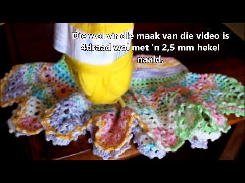 Crochet a Baby mini skirt (Afrikaanse vertalings ingevoeg)