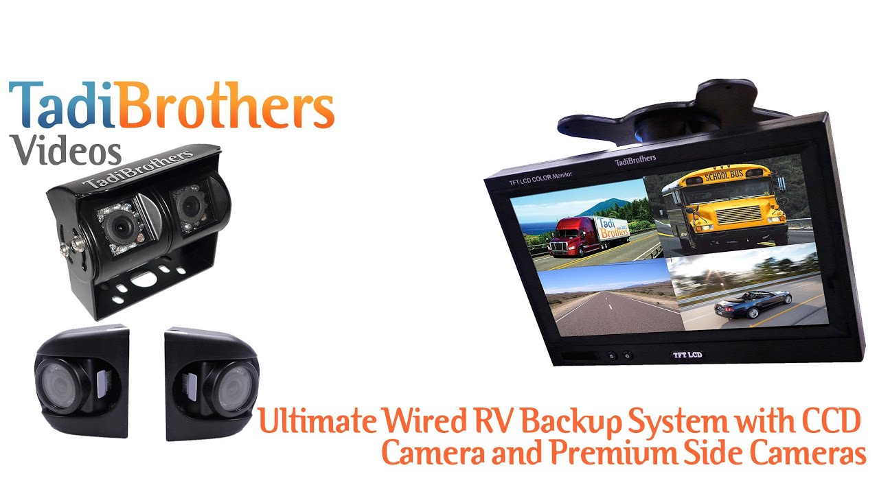 Travel Trailer Wired Backup Camera Systems From