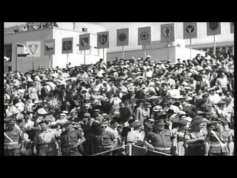 Israel celebrates Independence with military parade in Tel Aviv HD Stock Footage
