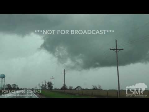 4-19-2017 Alvo, Nebraska - Rotating Wall Cloud