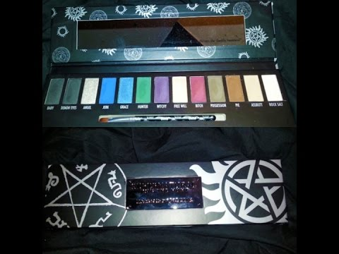 Supernatural Eye Shadow Palette Hottopic Brutally Honest Review
