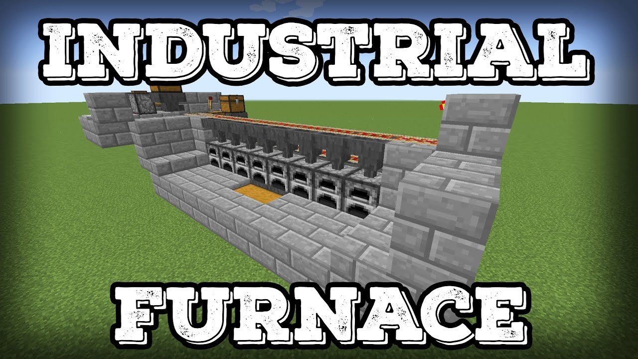 minecraft tutorial - industrial furnace