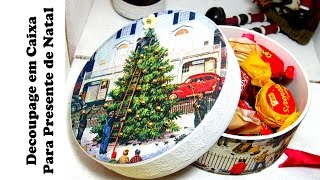 Decoupage em Caixa para Presente de Natal