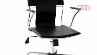 Trafico Black Office Chair Set By Zuo Modern