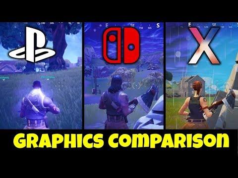 Fortnite: Nintendo Switch Vs PS4 Vs IPhone X • Graphics Comparison