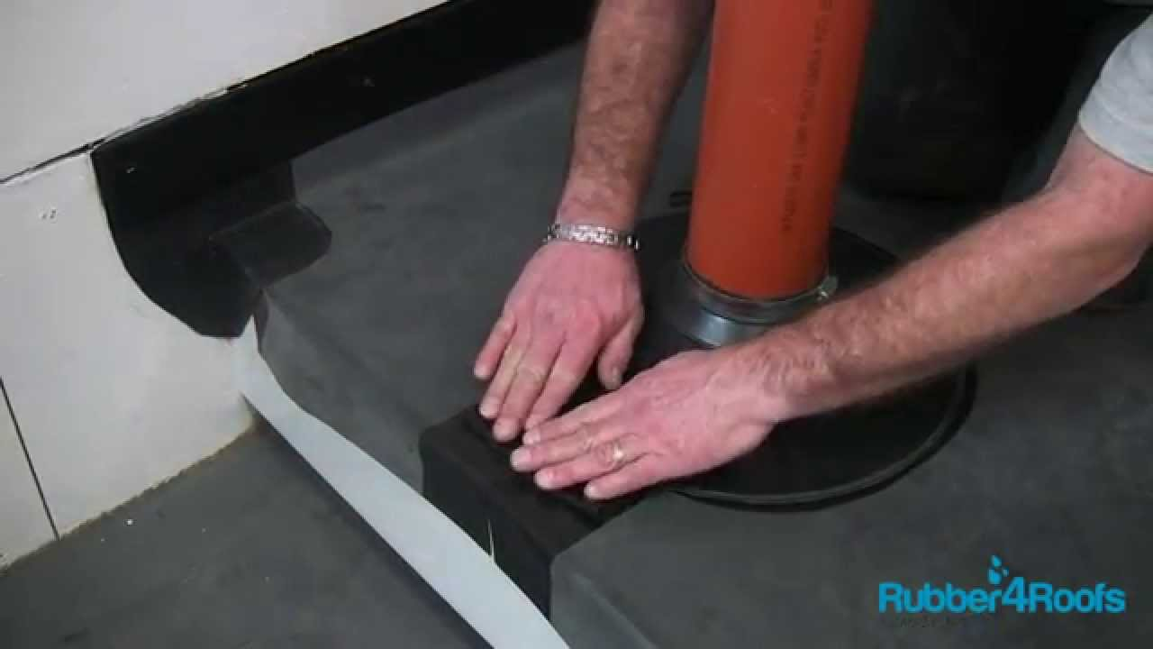 How To Install An Epdm Pipe Boot On A Rubber Roof From