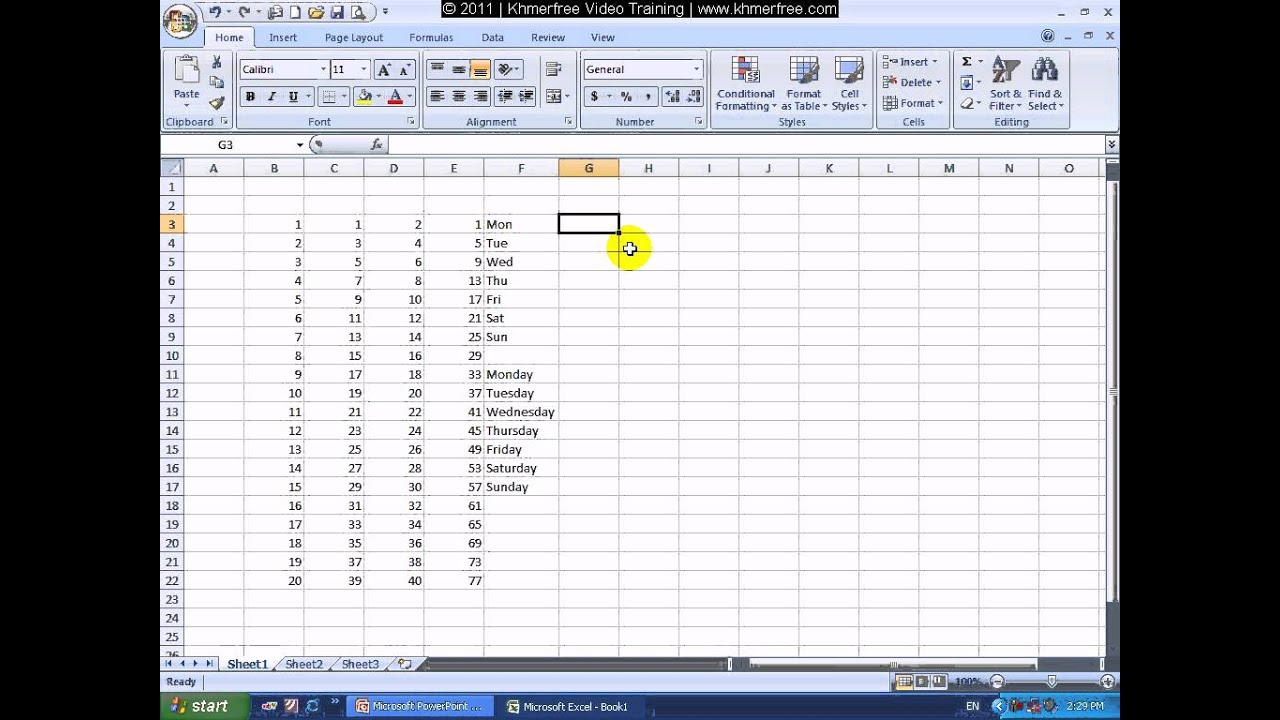 Microsoft Excel Tutorial How To Set Auto Number