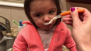 hysterical baby hates being messy