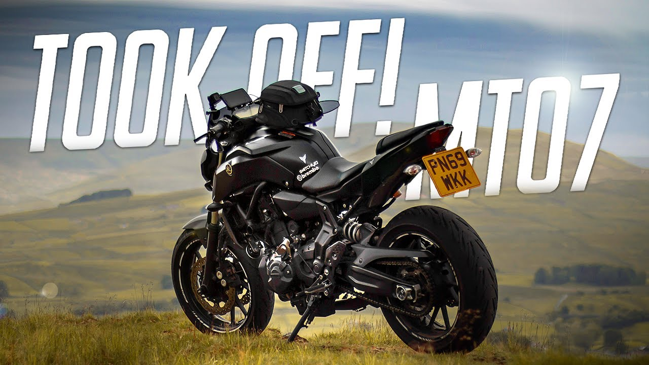 Yamaha MT07 | CRASHED THE DRONE! / Jumping the 07 | (2020)
