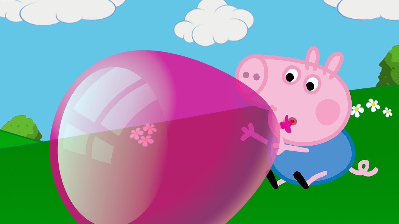 George is crying George lost his balloon Peppa Pig English new