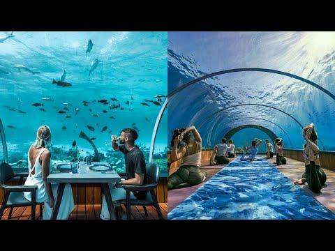 Il ristorante subacqueo alle Maldive per cenare sott'acqua a 5.8 metri di profondità