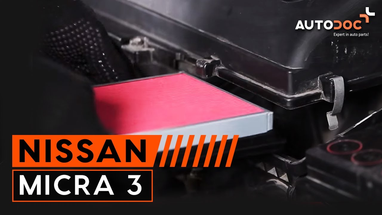 How to replace air filter NISSAN MICRA 3 TUTORIAL ...
