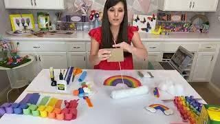 Rainbow Crafts for Kids || Crayola & Craft Box Girls