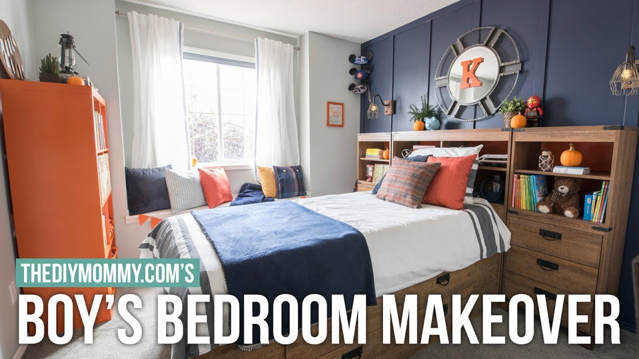 boys small bedroom boy s bedroom makeover modern nautical style the diy 10938