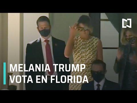 Melania Trump vota en Florida - Las Noticias