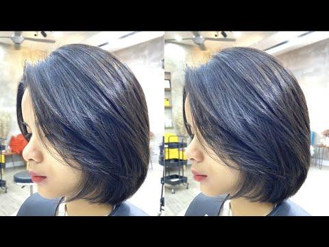 Layer Vuông dành cho học sinh cấp 2 siêu xinh ! LinhBlack hairsalon 0778 355 945