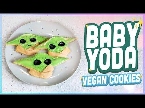 Baby Yoda Sugar Cookies - Quake N Bake (VEGAN)