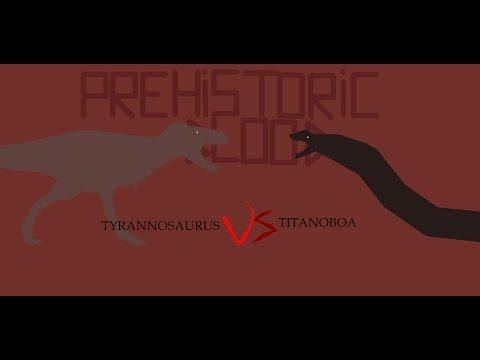 Prehistoric Blood SEASON 1:#4: Tyrannosaurus rex VS Titanoboa cerrejonensis