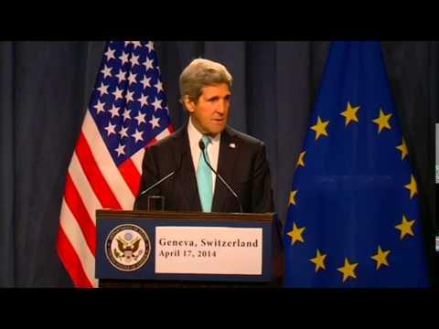 Secretary Kerry Delivers Remarks With EU High Representative Ashton