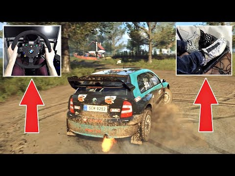 DiRT Rally 2.0 - 2005 Skoda Fabia WRC Driven with Fanatec Wheel, E-Brake & Pedal GAMEPLAY!