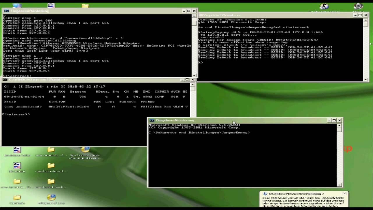 Hack Ing Wpa2 Windows Xp Air Wardriving Dissen Teutoburger
